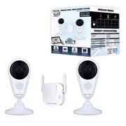 Night Owl 4 Channel 1080p HD Wireless Gateway with 16GB microSD Card and 2 AC Powered Indoor Wireless Cameras