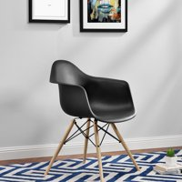 DHP Mid Century Modern Molded Arm Chair with Wood Leg