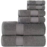 Endure 6-Piece Sumptuousness 100% Cotton Towel Set Collection