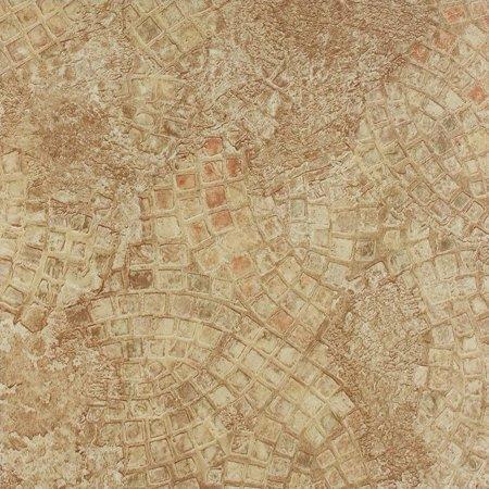 Green Mosaic Flooring (Achim Tivoli Ancient Beige Mosaic 12x12 Self Adhesive Vinyl Floor Tile - 45 Tiles/45 sq. ft.)
