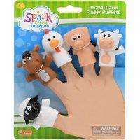 Spark. Create. Imagine. Animal Farm Finger Puppets, 5 Pieces