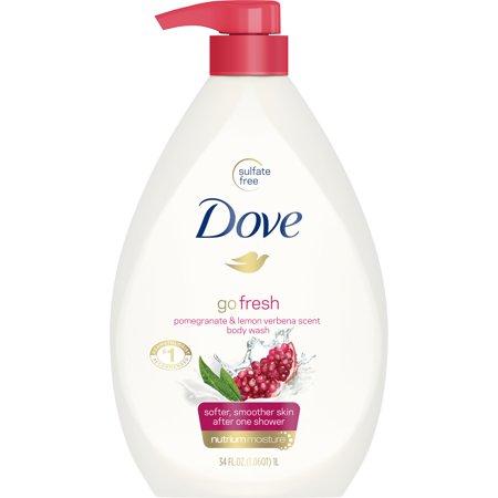 Dove go fresh Body Wash Pump Pomegranate and Lemon Verbena 34 (Topiclear Lemon)