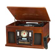 f3adf7c204d9 Victrola Wood 8-in-1 Nostalgic Bluetooth Record Player with USB Encoding  and 3