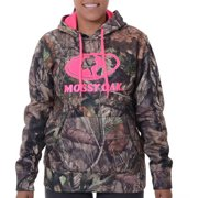 d980d0e57f68f Realtree and Mossy Oak Women's Camo Performance Pullover Fleece Hoodie