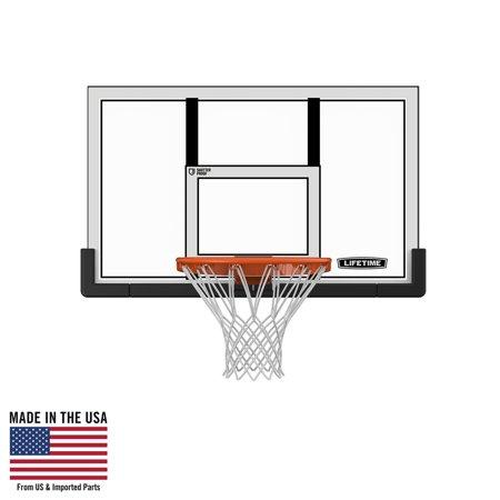 """Lifetime 48"""" Shatterproof Backboard and Rim Basketball Combo, 73729"""