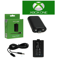For XBOX ONE Controller Play and Charge Kit Xbox One NEW (1400mAh) (Generic)