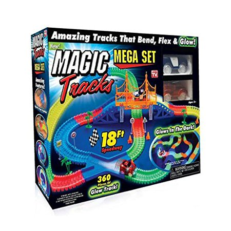 Magic Tracks Mega Set with 18ft Racetrack with 2 Race Cars As Seen on - 2 Programmable Race