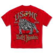 dd987be4 USMC Marine Corps Usmc-Semper Fidelis Teufel Hunden T-Shirt LARGE
