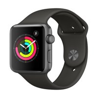 Refurbished Apple Watch - Series 3 - 42mm - Space Gray Aluminum Case - Gray Sport Band
