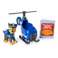 PAW Patrol Ultimate Rescue, Chase's Mini Helicopter with Collectible Figure for Ages 3 and Up