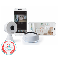 Safety 1st HD WiFi Baby Monitor with Sound and Movement Detecting Audio Unit, White