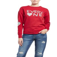 """Everyone"" Long Sleeve Crew Neck Fleece Top Women's"
