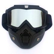 a032ecb9951c Winter Snow Sports Ski Snowboard MTB Retro Full Face Mask Shield Goggles  Glasses