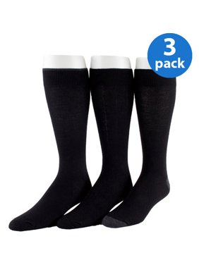 Men's Cotton Flat Knit Socks 3-Pack