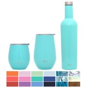 Simple Modern Spirit 12oz Wine Tumbler - Vacuum Insulated Thermos Double Wall Flask - 18/8 Stainless Steel Travel Mug - Caribbean