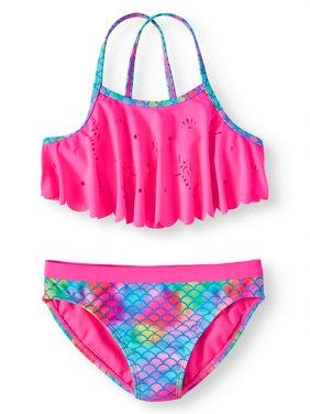 Mermaid Flounce Bikini Swimsuit (Little Girls & Big Girls)