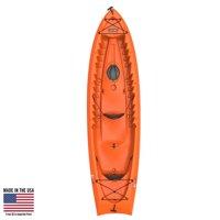 "Lifetime Kokanee 10'6"" Tandem Sit On Top Kayak In Orange with 2 Backrests, 90537"