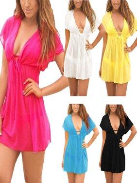 Ladies Beach dress Cover up Kaftan Sarong Summerwear Swimwear Bikini Summer