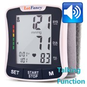 LotFancy Wrist Blood Pressure Monitor -  FDA Approved Automatic Digital BP Cuff Machine for Home Use, 2-User Mode, Irregular Heartbeat Detector, Portable Case (With Talking Function)