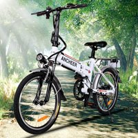 "Big Clearance! Hifashion 36V 250W Foldable Bike Electric Bike 18.7"" Adjustable Mountain Bicycle with Smart Lithium Battery Elec"