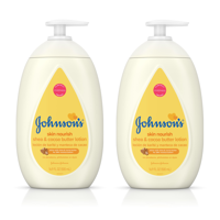 (2 pack) Johnson's Dry Skin Baby Lotion with Shea & Cocoa Butter, 16.9 fl. oz