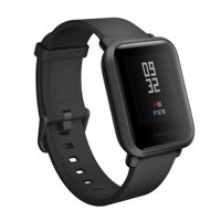 Amazfit Bip Smartwatch by Huami with All-day Heart Rate and Activity Tracking, Sleep Monitoring, GPS, Ultra-Long Battery Life, US Service and Warranty (A1608 Black)