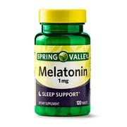 Spring Valley Melatonin Tablets, 1 mg, 120 Ct