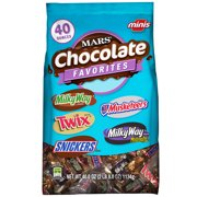 Mars Minis Size Chocolate Candy Bars Variety Pack, 40 Oz.