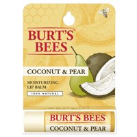 Burt's Bees 100% Natural Moisturizing Lip Balm, Coconut & Pear with Beeswax & Fruit Extracts - 1 Tube