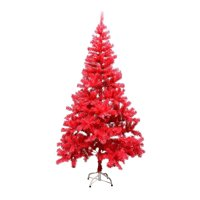 ALEKO Artificial Holiday Tree - 6 Ft - Coral Pink