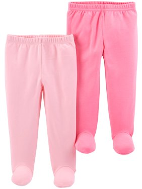 Footed Pants, 2-pack (Baby Girls)
