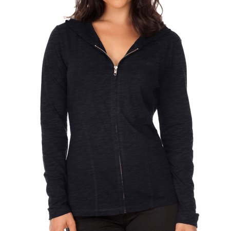 Kavio Women Slb Jrsy L/S Zip Hoodie W/Pnny Pckt, Style - Ladies High Top Back Zip