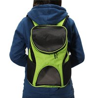 Yosoo Pet Carrier Premium Travel Outdoor Mesh Backpack Carry Bag Accessory Dog Cat Rabbit Small Pets Cage House(Green)