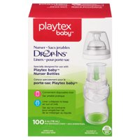 Playtex Baby Drop-Ins Liners For Playtex Baby Nurser Bottles 8-10oz 50 count