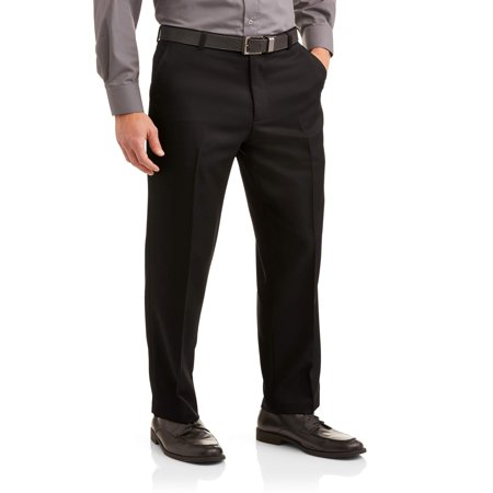 - George Men's Microfiber Performance Flat Front Dress Pant