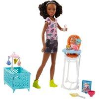 Barbie Babysitters Inc. Nikki Doll and Feeding Playset