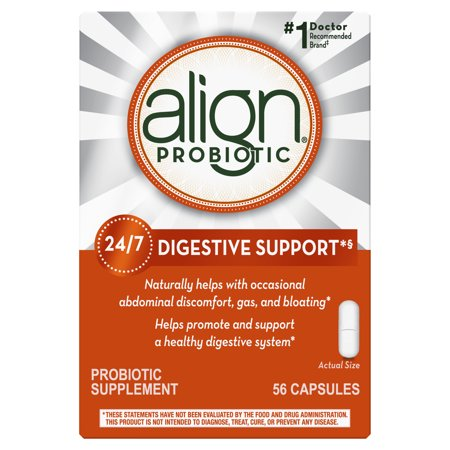 Align Probiotics, Probiotic Supplement for Daily Digestive Health, 56 capsules, #1 Recommended Probiotic by (Best Is Align A Good Probiotics)