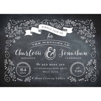 Garden Scroll Standard Wedding Invitation