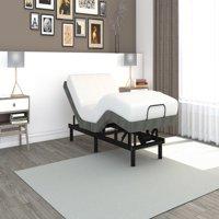 Signature Sleep Gold Power Adjustable Upholstered Bed Base/Foundation, Grey Linen