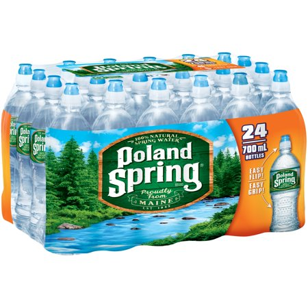 POLAND SPRING 100% Natural Spring Water 24-23.7 fl. oz. Bottles