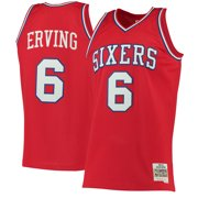 c1de84d7a Julius Erving Philadelphia 76ers Mitchell   Ness 1982-83 Hardwood Classics  Swingman Jersey - Red