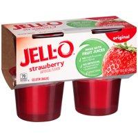 Jell-O Ready to Eat Strawberry Gelatin Snacks, 13.5 oz Sleeve (4 Cups)