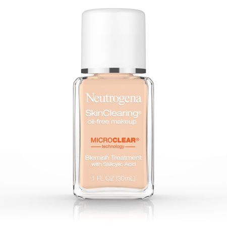 Neutrogena Skinclearing Makeup, 40 Nude, 1 Fl. Oz. - Dark Skin Halloween Makeup