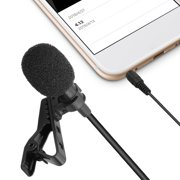 Tie Clip Microphone Lavalier Microphone Mic Clip-on Omnidirectional Condenser Perfect for Recording Youtube/