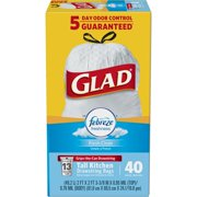 Glad OdorShield Tall Kitchen Drawstring Trash Bags - Febreze Fresh Clean - 13 Gallon - 40 ct