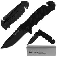 Tough Rescue Tactical Folding Pocket Knife by Whetstone