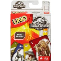 UNO Jurassic World Theme Card Game for 2-10 Players Ages 7Y+
