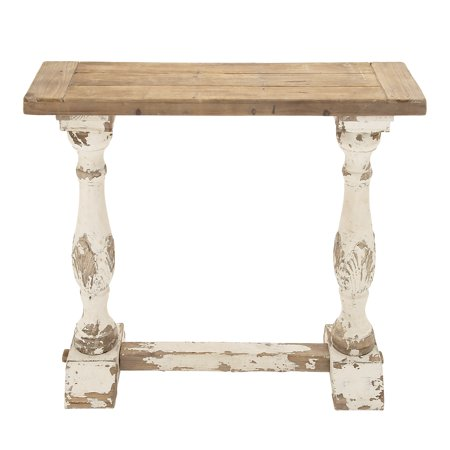 Decmode Rustic Wood Console Table, Multi Color