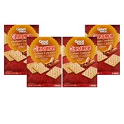(4 Pack) Great Value Graham Crackers, Cinnamon, 3 Count, 14.4 oz