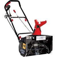 Snow Joe SJM988 Electric Single Stage Snow Thrower | 18-Inch · 13.5 Amp Motor| Headlights (Red)